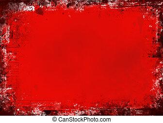 grunge, rojo