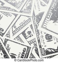 Grunge texturó fondos de dinero