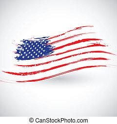 Grungy american banderín de fondo