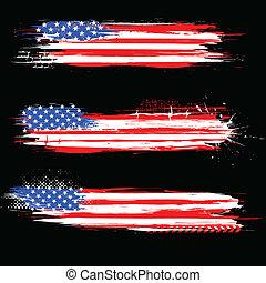 Grungy American banderín