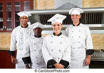 Grupo de chefs de diversidad