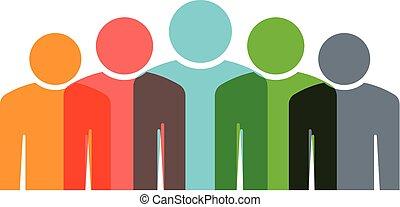 Grupo de cinco personas