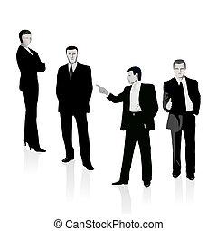 Grupo de cuatro personas de negocios