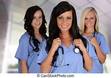 Grupo de enfermeras