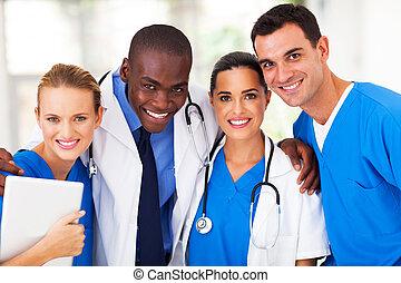 Grupo de equipo médico profesional