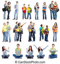 Grupo de estudiantes.