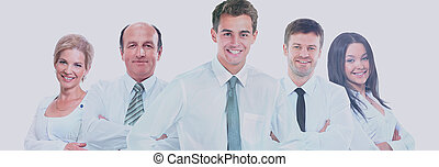 Grupo de gente de negocios. Aislado de fondo blanco.