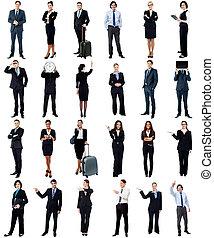 Grupo de gente de negocios, concepto de collage.