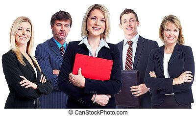 Grupo de gente de negocios.