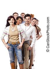 Grupo de gente feliz de negocios juntos