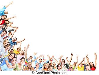 Grupo de gente feliz