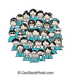Grupo de gente para su diseño