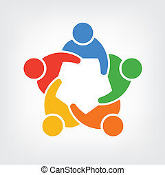 Grupo de logo de personas, equipo 5