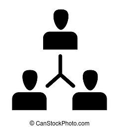 Grupo de personas íconos sólidos. Intercambio de ideas ilustradas aisladas en blanco. Diseño de estilo Glyph, diseñado para web y aplicación. Eps 10.