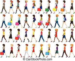 Grupo de personas caminando