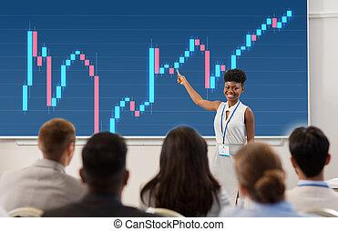 Grupo de personas en conferencia de negocios o conferencia