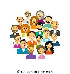 Grupo de personas, fondo para su diseño