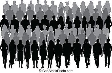 Grupo de personas, hombres y mujeres