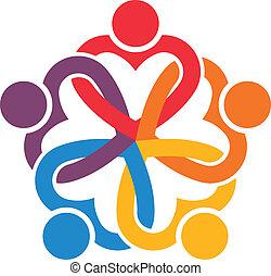 Grupo de personas Interlaced Hearts 6.