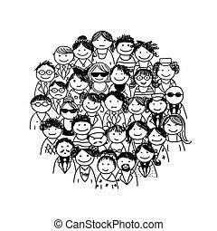 Grupo de personas para su diseño