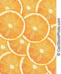 Grupo de rodajas de naranja vector de fondo