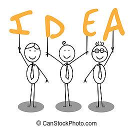 Grupo de texto Idea
