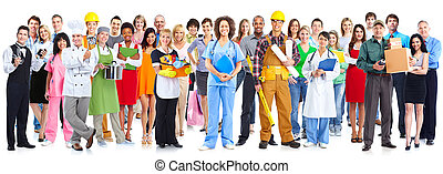 Grupo de trabajadores.
