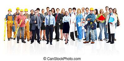 Grupo de trabajadores industriales.