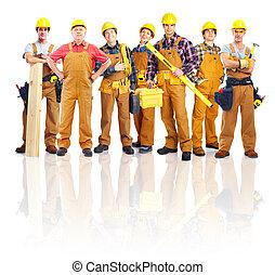 Grupo de trabajadores industriales profesionales.