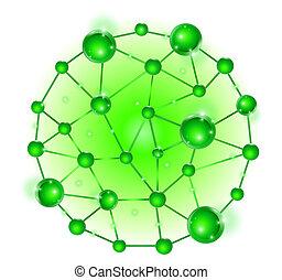 Grupo de vector de células de ADN molecular fijado