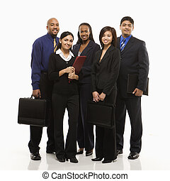 grupo, portrait., empresa / negocio