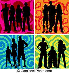 Grupos de gente