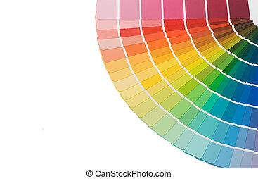 Guía de color para la selección de fondo blanco