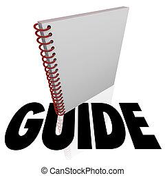 Guía de libro en espiral instrucciones manuales