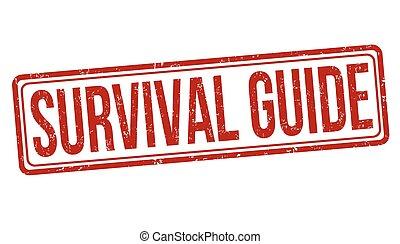 guía, grunge, estampilla, supervivencia, caucho