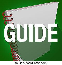 Guía libro de espiral palabra larga sombra instrucciones manuales de instrucciones