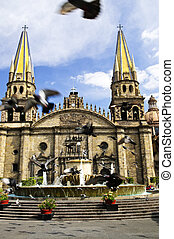 Guadalajara catedral en Jaisco, México