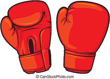 Guantes rojos de boxeo
