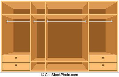 guardarropa, room., muebles