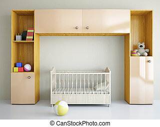 guardería infantil, cama