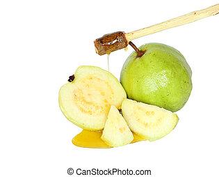 Guava en blanco.