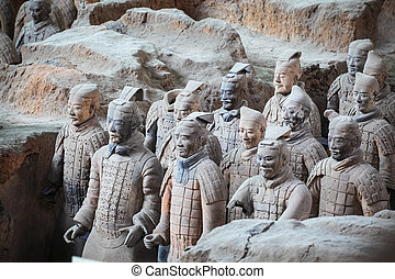 Guerreros de Terracotta en Xian