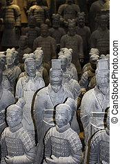 Guerreros del ejército de terracota en Xian, China