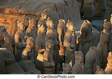 guerreros, terracota, xian