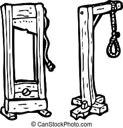 guillotina, gaols, caricatura