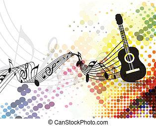 Guitarra de fondo musical