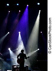 Guitarra en el escenario