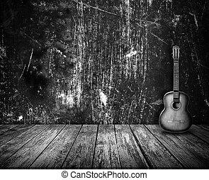 Guitarra en el interior