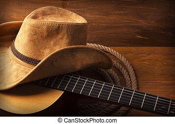 guitarra, música country, plano de fondo