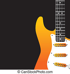 Guitar/ve vector de música